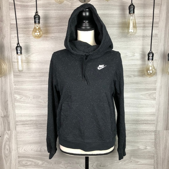 Nike Navy Speckle Hoodie Pullover Sweater Size M